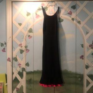 Joseph Ribkoff black dress with hot pink trim